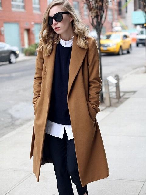 チェスターコートのサイズは大きすぎるくらいがいい