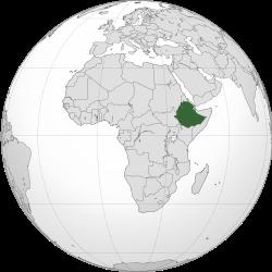 地図エチオピア