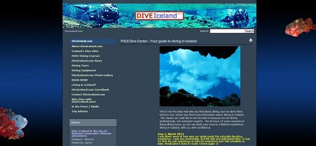 DIVEICELANDアイスランドシルフラダイビングショップ