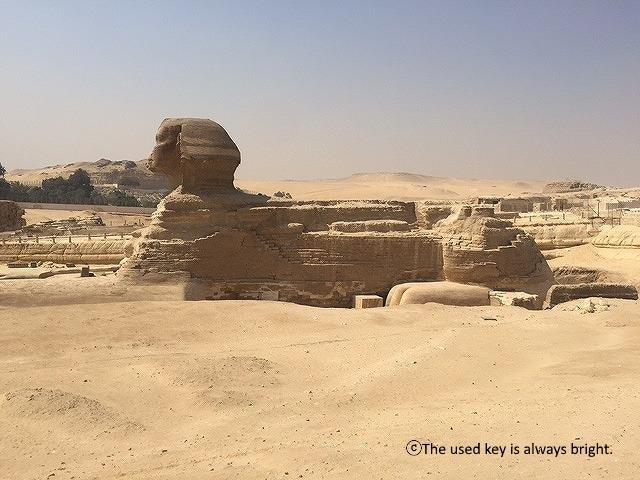エジプト横から見たスフィンクス