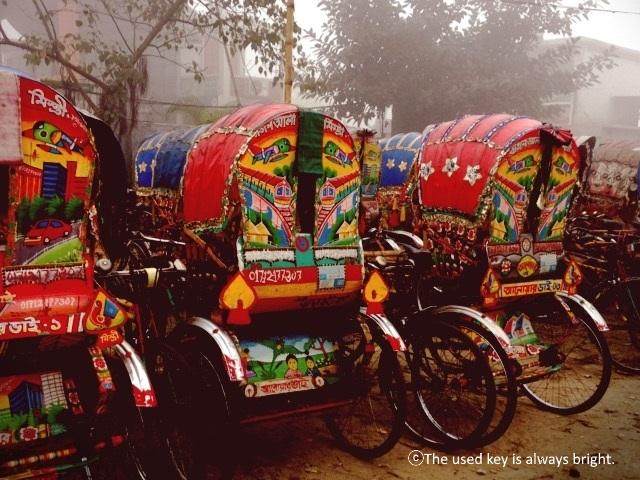 バングラディシュのリキシャ