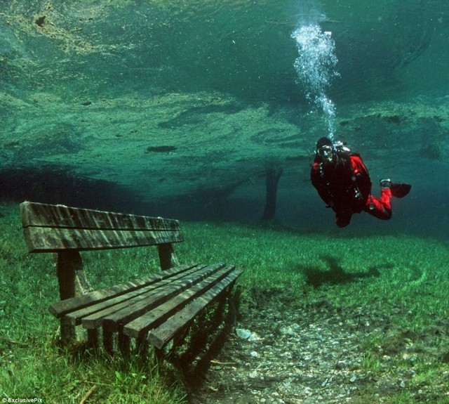 オーストリアのグリーンレイク