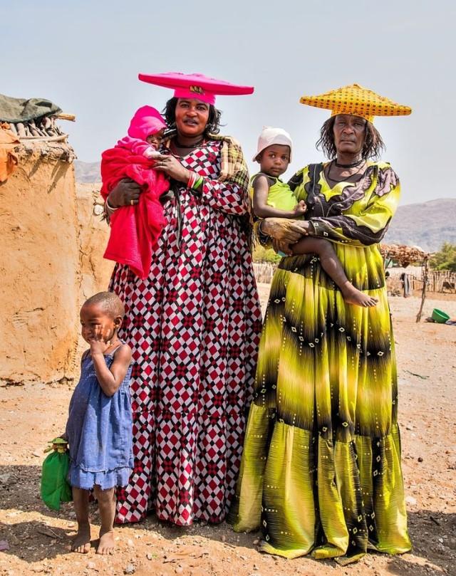 ナミビアのヘレロ族