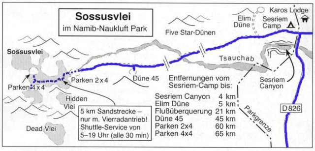 ナミブ砂漠地図マップ