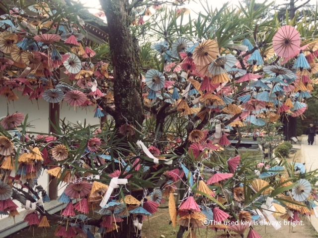 松陰神社の傘みくじ