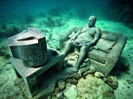 カンクン@メキシコ_海底美術館