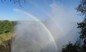 ザンビア(1)ビクトリアの滝というよりむしろ虹。その日私は虹を歩いた。