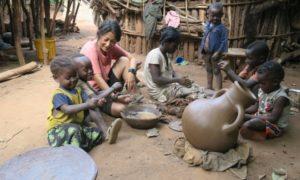 エチオピア(23)アリ族村で体験!! どこまでも自給自足な花嫁修業