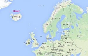 地図アイスランド