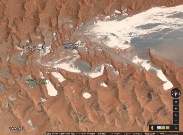 ナミブ砂漠の地図