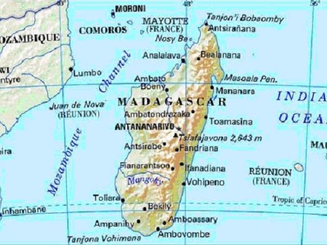 マダガスカル地図