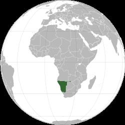 地図ナミビア