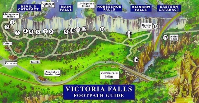 ビクトリアの滝MAP