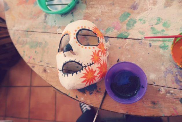 死者の日_マスク作り