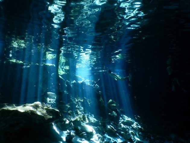 Dos Ojos_cenote_mexico_ドスオホス